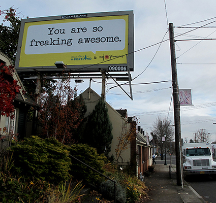 Awesome Portland Billboard Campaign | Hope | Scoop.it