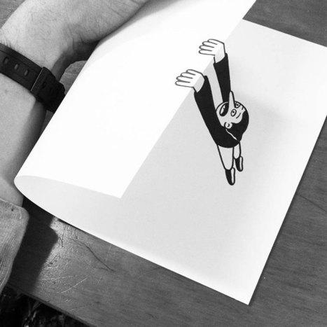 En pliant ingénieusement de simples feuilles de papier, cet artiste donne littéralement vie à ses dessins | CRAKKS | Scoop.it