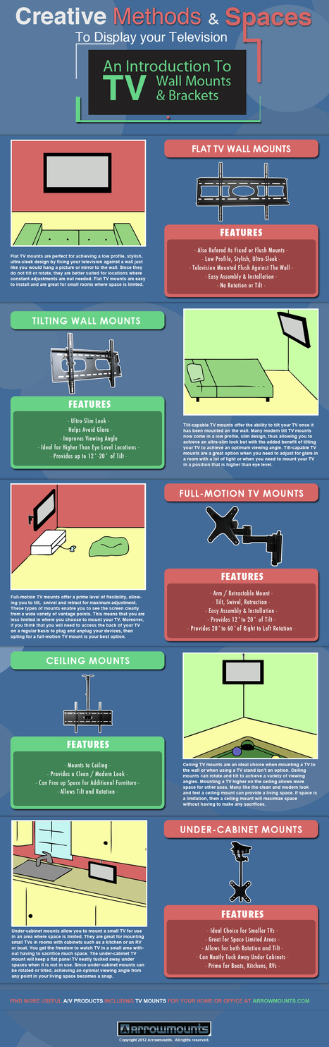 Creative Methods to Display Your Television [INFOGRAPHIC] | EPIC Infographic | Scoop.it