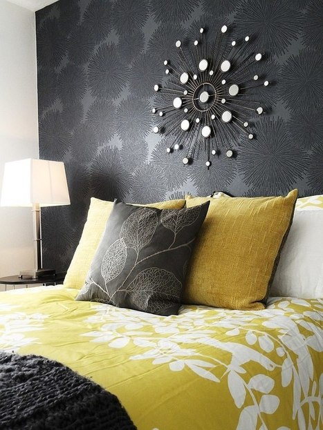 Cheerful Sophistication: 25 Elegant Gray and Yellow Bedrooms | Designing Interiors | Scoop.it