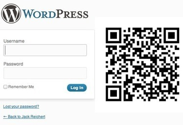 No More Passwords: Log Into WordPress with a QR Code   WordPress and Blogging   Scoop.it