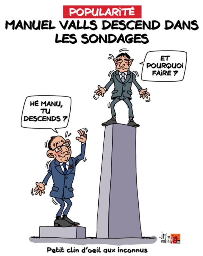 Popularité : forte chute de Valls | Baie d'humour | Scoop.it