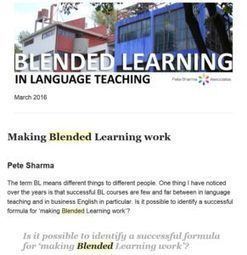 Blended Learning in language teaching Newsletter | Blended Learning | Scoop.it