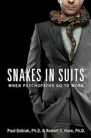 """Psicología Forense UNED: """"Serpientes con Traje"""" (Definición de Robert Hare)   Psicopatologia - Psychopathology   Scoop.it"""