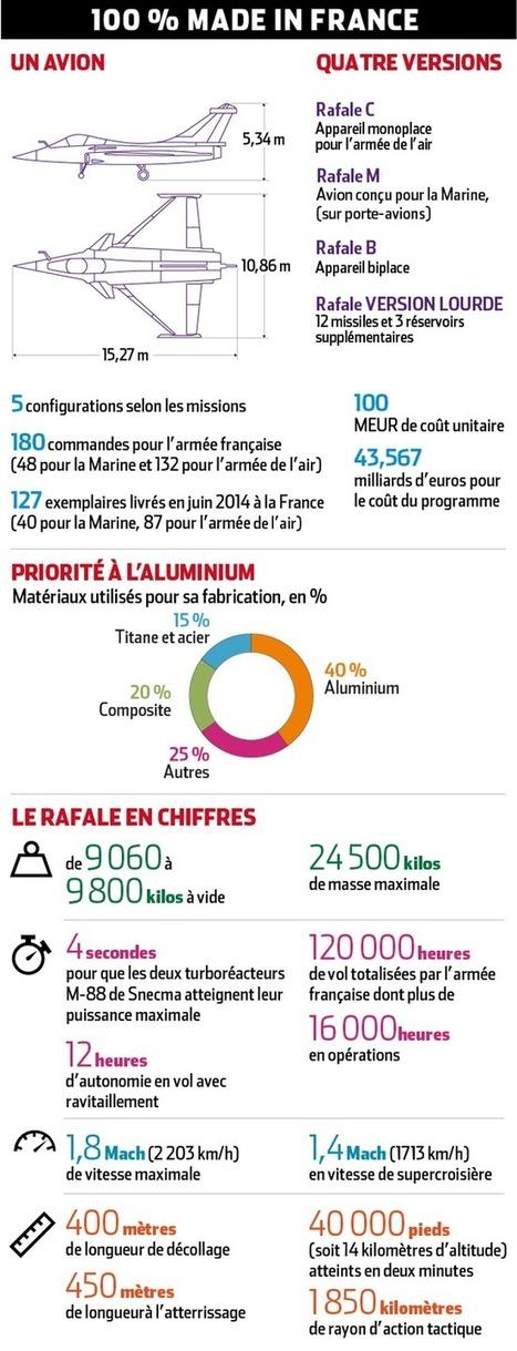Tout sur le Rafale de Dassault Aviation en une infographie et 40 chiffres | Defense | Scoop.it