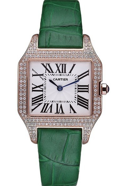 Replica Ladies Cartier Santos 100 Diamond Rose Gold Bezel Watch | Men's & Women's Replica Watches Collection Online | Scoop.it