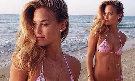 Bar Refaeli shows off curves in bikini after operation to remove microscopic mole - Daily Mail | micro bikini | Scoop.it