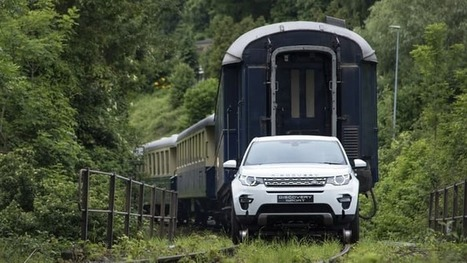 Land Rover proves Ingenium's pull with 100-tonne train stunt | Railway anthology | Scoop.it