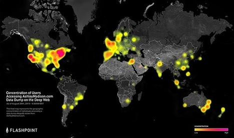 Flashpoint Heat Map: Concentration of Users Accessing AshleyMadison.com Data Dump on the Deep Web - Flashpoint | Fun Geography and GIS | Scoop.it