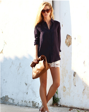 Hot Sale White Flower Lace Hem Shorts 1 - Tbdress.com   FASHION-BEAUTY-CLOTHES-GIRL   Scoop.it