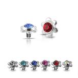Body Jewelry Pierce - 14K Gold Flower Shaped Jeweled Belly Ring | fouzer silver jewelry wholesale | Scoop.it