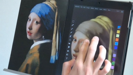 iPad artist copies masterpieces | TABLET PAINTING | Looks -Pictures, Images, Visual Languages | Scoop.it