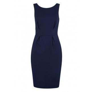 Navy V-Back Textured Bodycon Dress | Shop Online | BeSaz Boutique | Nigeria | Ghana | Besaz Boutique | Scoop.it