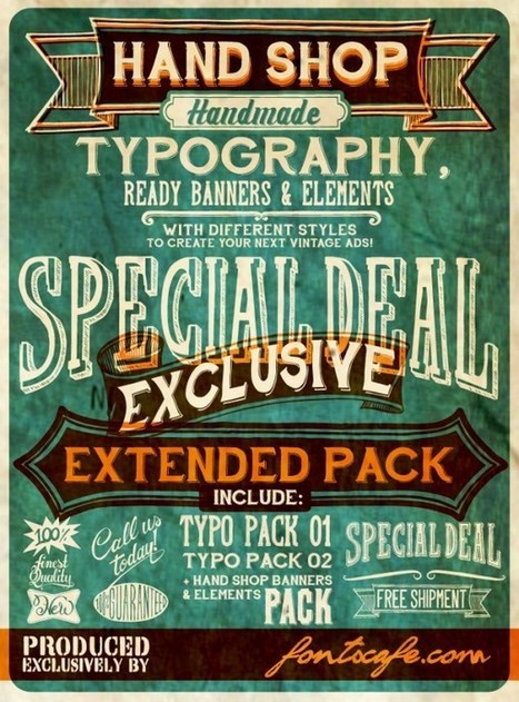20 Free Retro and Vintage Fonts Download | Design, social media and web resources | Scoop.it