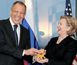 "Hillary Clinton: Putin wants to ""re-Sovietize the region"" 