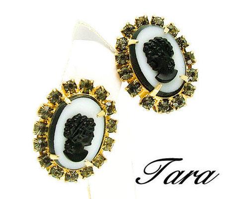 Vintage Cameo Earrings Signed Tara | Beautiful Bargain Vintage Costume Jewelry | Scoop.it