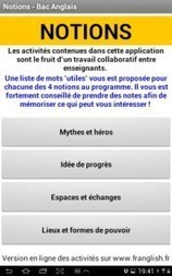 Notions: application Android pour reviser le vocabulaire des 4 notions au baccalauréat | Ze Pad | Apps for EFL ESL | Scoop.it