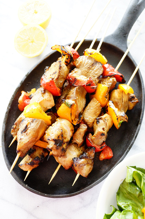 #HealthyRecipe : Barbecue Chicken Kebabs and Homemade Chicken Marinade | The Man With The Golden Tongs Goes All Out On Health | Scoop.it