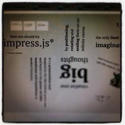 Is Impress.js Impressive Enough - review   omnia mea mecum fero   Scoop.it