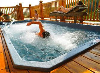 Couloir de nage ou spa de nage liez l u - Spa de nage dimension ...