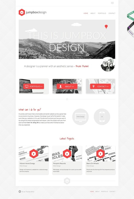 15 Inspirational Examples of Minimal & Clean Web Design | Web and graphic design | Scoop.it