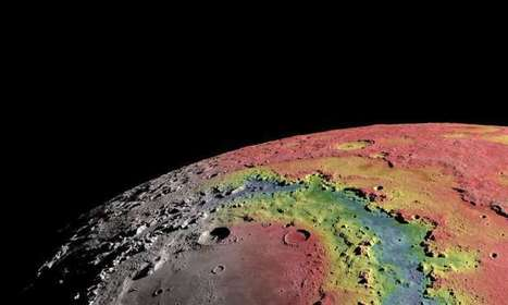 Research helps explain formation of ringed crater on the moon | Fragments of Science | Scoop.it