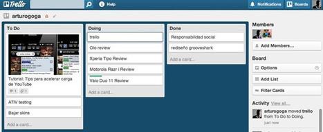 Trello – Una excelente herramienta colaborativa para organizar proyectos y realizar tareas [Kanban] | Educacion, ecologia y TIC | Scoop.it