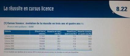 Licence en 3 ans : taux en baisse | Enseignement Supérieur et Recherche en France | Scoop.it