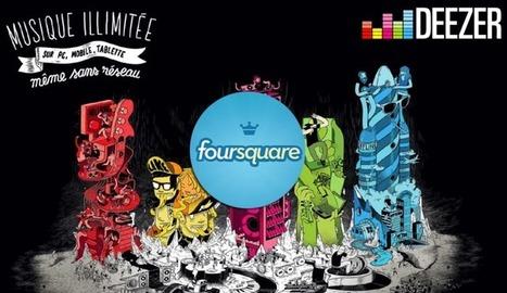 Deezer et Foursquare collaborent pour vous encourager à check-in en concert... C'est l'Hebdo Musique & Web | Art et Culture, musique, cinéma, littérature, mode, sport, danse | Scoop.it