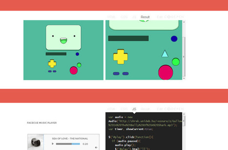 Web Designers Kit : Dribbbble to interactive CodePen | Tekpeek | Scoop.it