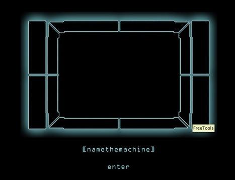 [namethemachine] - the Ultimate Nerd Server by Mary Franck   Digital #MediaArt(s) Numérique(s)   Scoop.it
