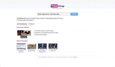 TubeChop Reviews | edshelf | Web 2.0 and Great Sites | Scoop.it