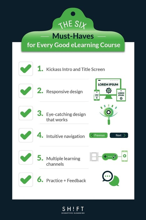 The 6 Must-Haves for Every Good eLearning Course | Moodle and Web 2.0 | Scoop.it