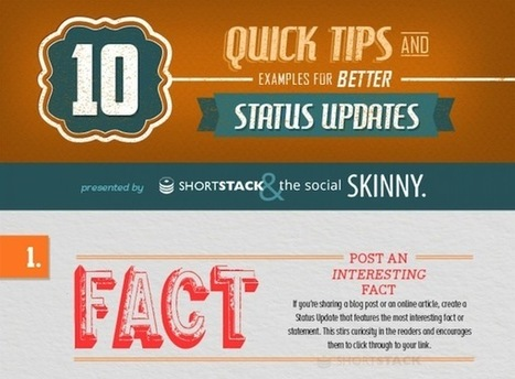 Infographic: 10 Tips For Posting Better Social Media Updates | Writing for the Web & Content Marketing | Scoop.it