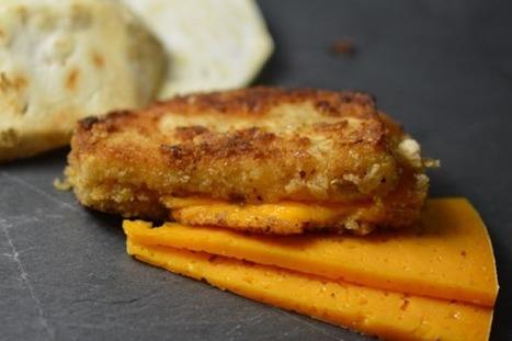Recette : Sandwiches de céleri pané à la mimolette | The Voice of Cheese | Scoop.it