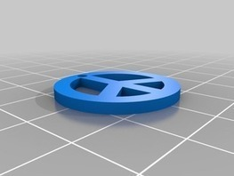 Peace an Love Pendant by StephaneRousseau - Thingiverse   Big and Open Data, FabLab, Internet of things   Scoop.it