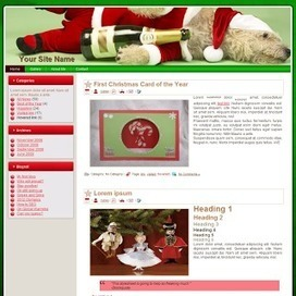 Paper This And That: Free Jolly Doggie Christmas Blogger Theme   Blogger themes   Scoop.it