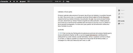 Transcription de fichiers audio : l'outil ultime | Technologie et éducation | Scoop.it
