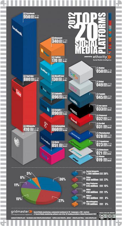 Top 20 des réseaux sociaux qui génèrent le plus de visites | Autour du Web | SI mon projet TIC | Scoop.it