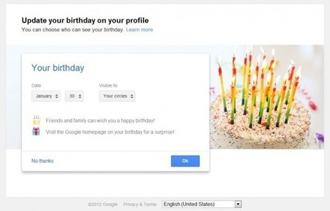 Birthday Reminders From Google+ Now Showing On Google.com | SEO Tips, Advice, Help | Scoop.it