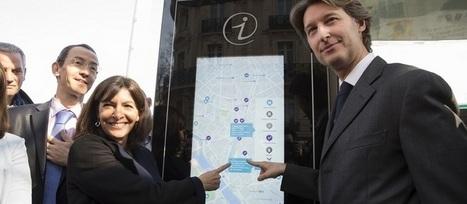 Les abribus connectés arrivent à Paris | Actu de l'Aménagement Urbain | Scoop.it