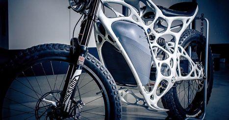 This freaky electric motorbike was 3D printed with metal powder | Heron | Scoop.it