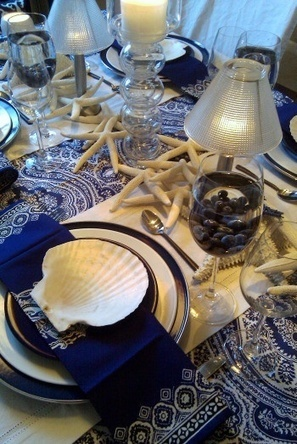 navy blue and white | Decorations | Scoop.it