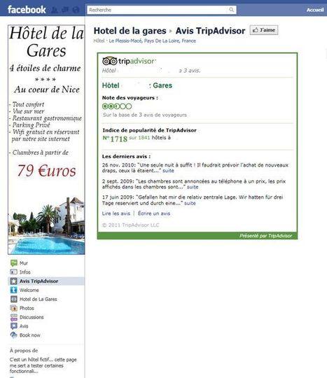 Ajouter les avis TripAdvisor sur la page Fan Facebook de votre établissement | Chambres d'hôtes et Hôtels indépendants | Scoop.it