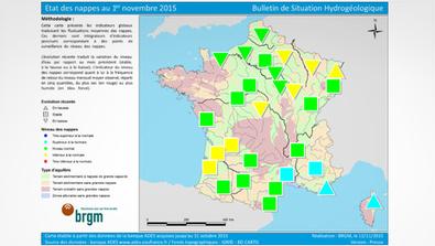 Situation des nappes d'eau souterraine au 1er novembre 2015 | BRGM | DD Haute-Normandie | Scoop.it