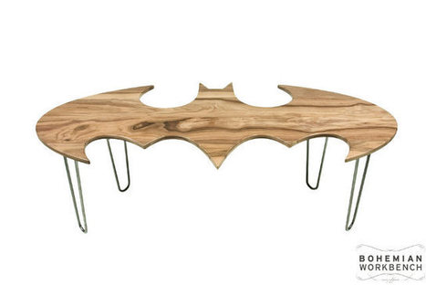 Wood Is Good: Carved Wooden Bat-Symbol Coffee Tables ... | HubPages | Scoop.it