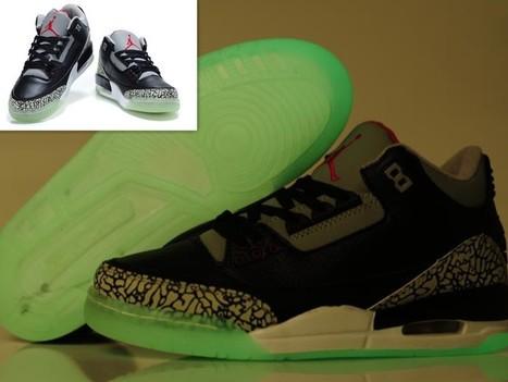 Air Jordan 3 Glow In The Dark Black Cement Grey Hot Sale Online | Cheap Glow In The Dark Air Jordans | Scoop.it