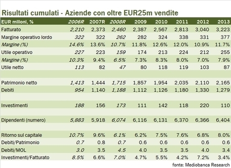 I risultati delle aziende vinicole italiane (ex cooperative) – rapporto Mediobanca 2014 | Autour du vin | Scoop.it