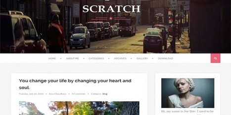 Free Scratch Blogger Template Personal - Designsave.com | Blogger themes | Scoop.it