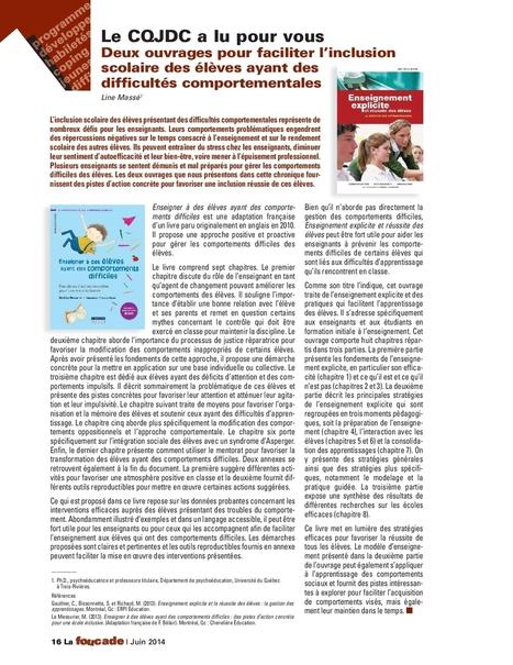 Critique positive du livre Enseignement explicite et réussite des élèves | Enseignement explicite | Scoop.it
